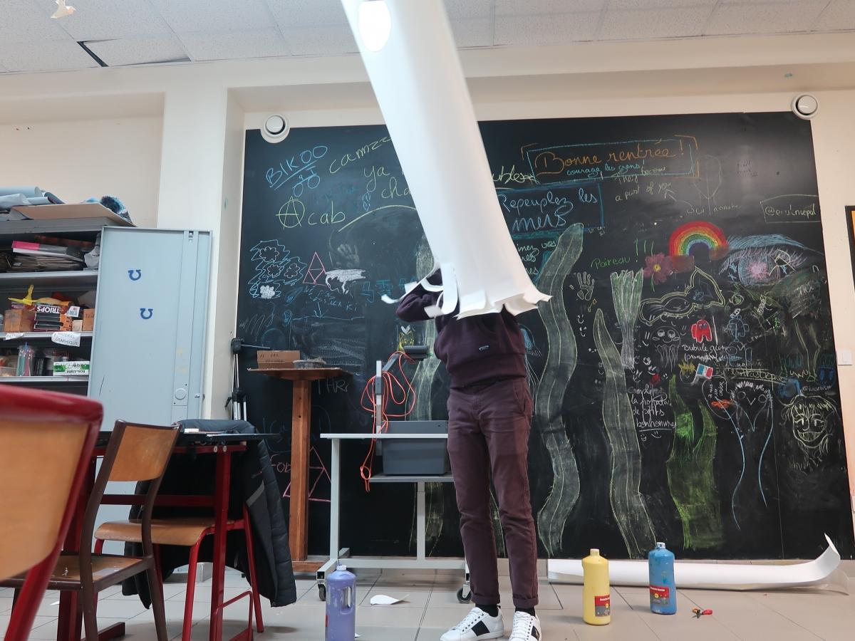 """Frac des Pays de la Loire Atelier """"(s)'investir"""" Makiko Furuichi 2021"""