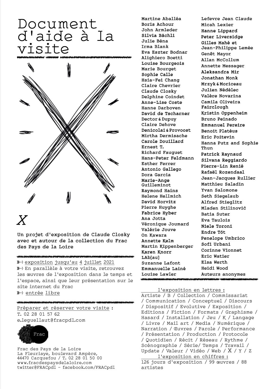 Frac des Pays de la Loire dossier pédagogique x Claude Closky